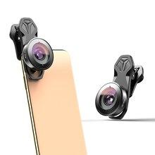 Apexel 195 度魚眼レンズビデオカメラレンズデュアルレンズ一眼iphone、ピクセル、サムスンギャラクシーすべてのスマートフォンxiaomi