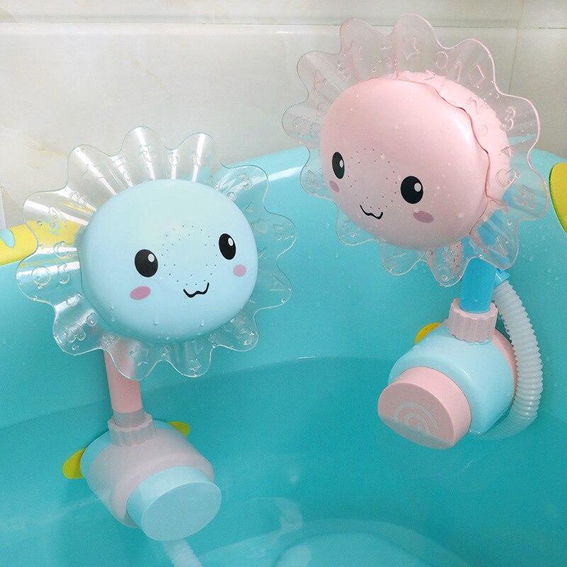 Newborn Baby Game Bathtub Sunflower Shower Water Spray Toy Children Kids Pool Swimming Bathtub Bath Bambino Artikelen Infants