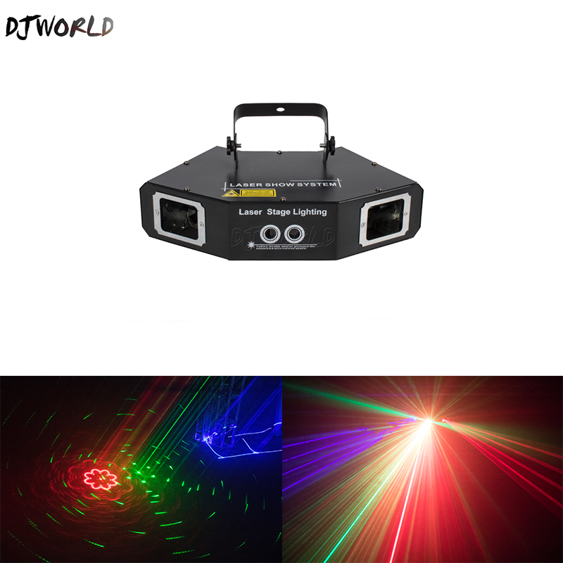 DJworld Four Eyes Red Green Blue Sector Scan Gobo Laser Lighting Scan  Light Stage Effect DMX512 For DJ Disco Party Dance Floor