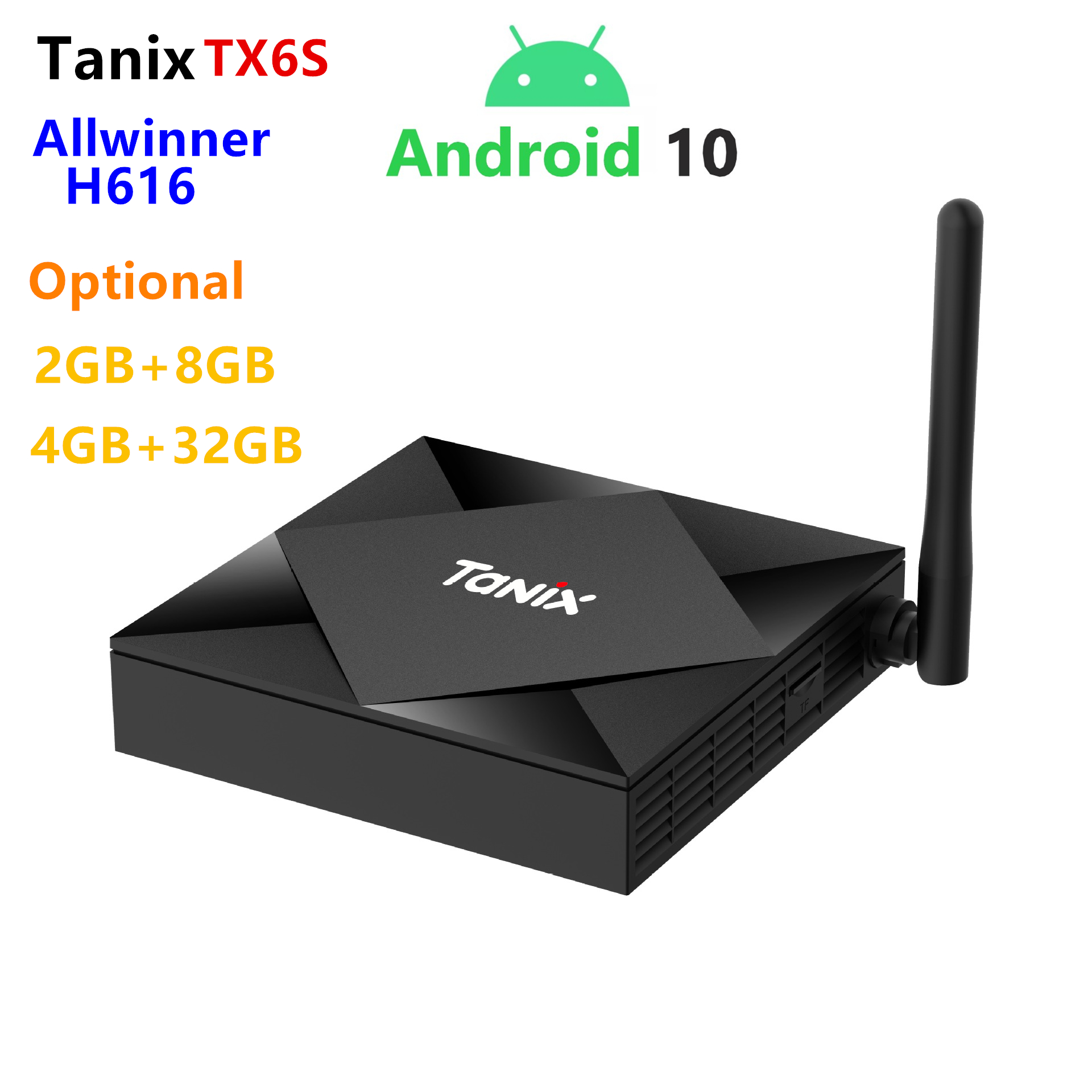 2020 Android 10.0 OS Smart TV-box Orginal Tanix TX6S H616 2GB 8GB 2.4g/5G WIFI BT Set-Top-Box With Alice UX Support Voice Remote