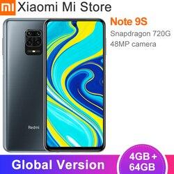 Versão global xiaomi redmi nota 9s 4gb ram 64gb rom smartphone snapdragon 720g 5020mah 48mp + 16mp câmera 6.67