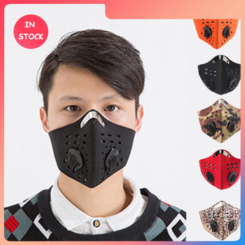 Anti Smoke Carbon Dust-proof  Breathable Mesh Bicycle Mask Dust Smog Windproof Protective Mesh Bike MTB Cycling Face Mask