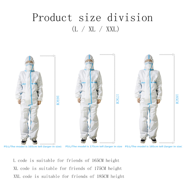 Reusable Protective Clothing ppe safety suit dust Invasion Plastic Insulat Protection Non-Woven Workshop Isolation Coverall Set 3
