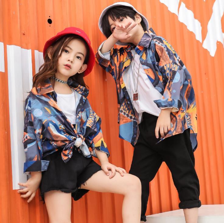 Korean Teenage Clothing Set For Girls Boys Children Shirt Crop Tank Top Shorts Pant Kids Hip Hop Outfit 4 6 8 11 12 13 14 Years