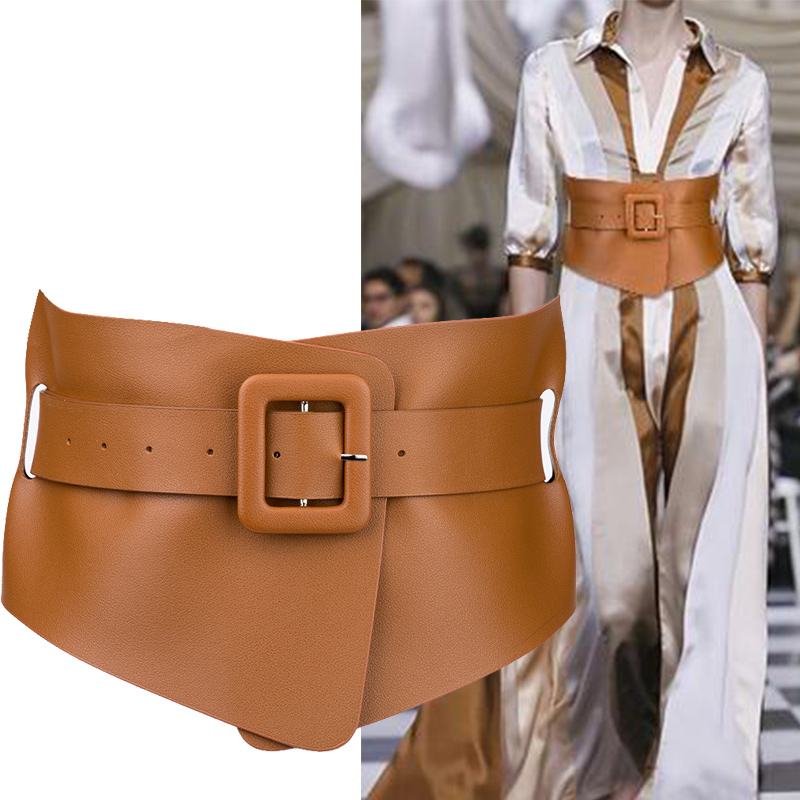 Punk Gothic Faux Belts For Woman Belt Classy Elastic Ceinture Femme 4 Color Belt Ladies Cummerbunds Accessory