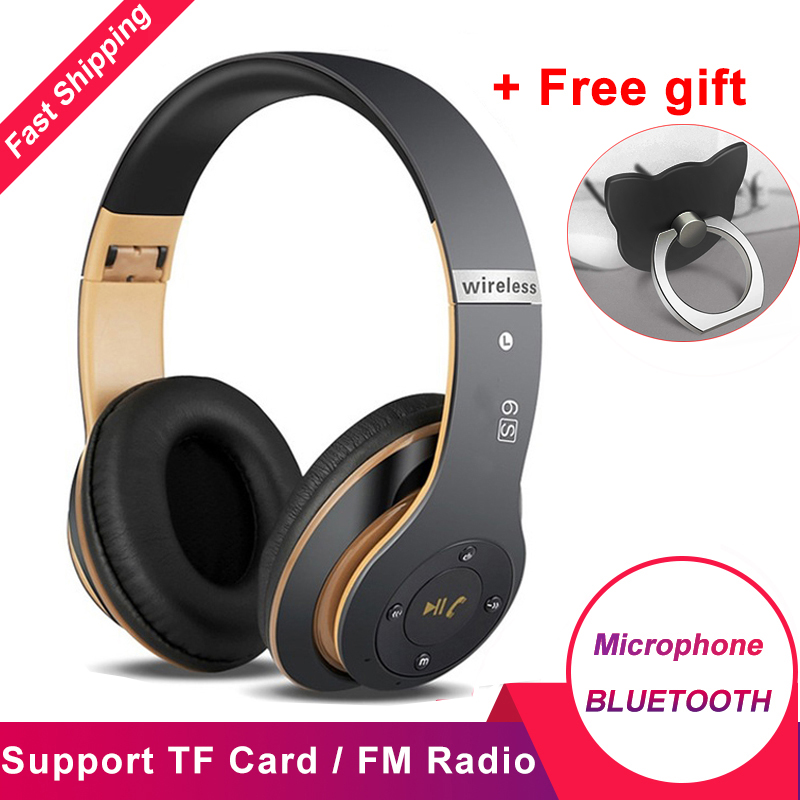 6S Wireless Bluetooth 4.2 Headphones Foldable Casque Audio Hifi Stereo Bass Headset With Microphone Support TF Card FM Radio