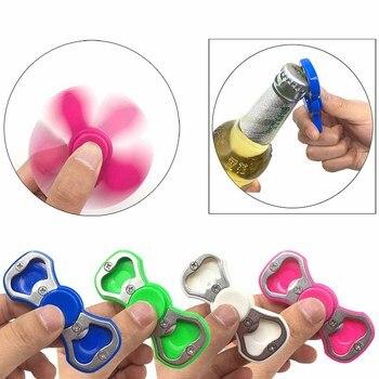 5pcs Hands Spinner Fidget Spinner Bottle Opener Tool Fidget Stress Kids Adult PVC Plastic Finger Fidget Toys three blade alloy abs fidget spinner