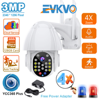 FHD 3MP PTZ telecamera Wifi monitoraggio automatico esterno Cloud CCTV sicurezza domestica telecamera IP Zoom 4X telecamera Dome a 2 vie con velocità di conversazione App YCC365