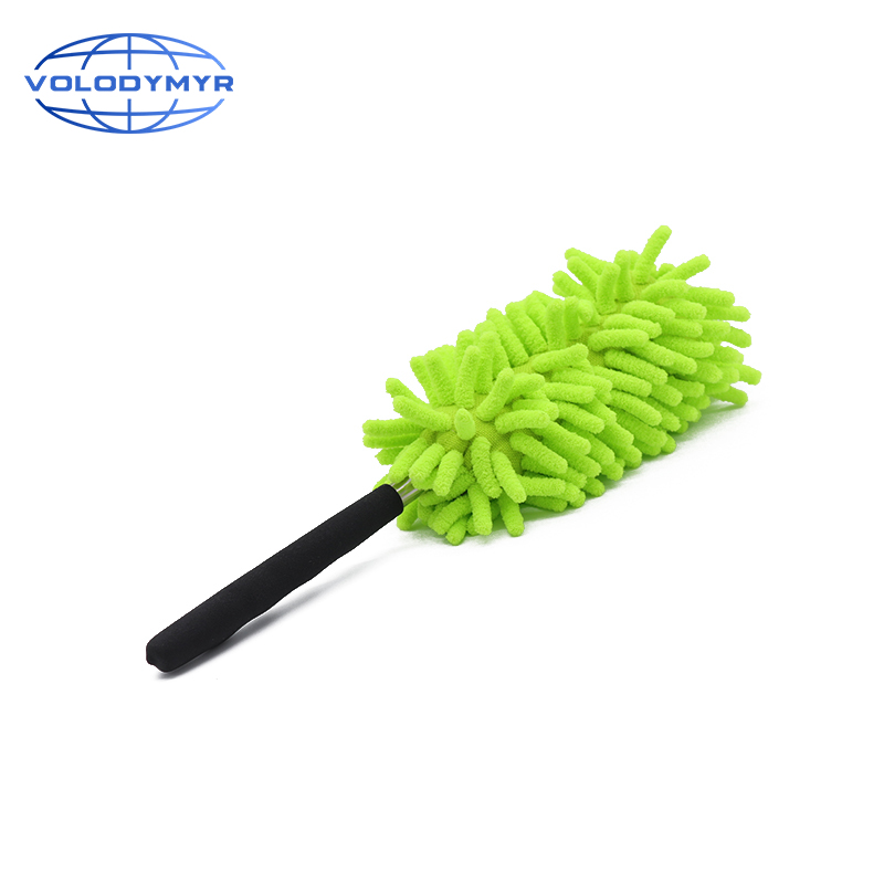 Dust Duster Green Chenille Extension Type Microfiber Applicator Car Wash Accessories Cloth For Auto Detailing Cleaning Washing