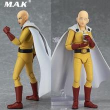 In stock 16cm Figma310 ONE PUNCH-MAN Saitama Hero Teacher Poseable PVC Figure Toys