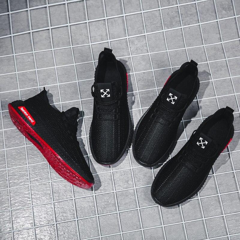 2019 New Style Shoe Autumn Athletic Shoes Mesh Shoes Breathable Fly Woven Versatile Trend MEN'S SHOES