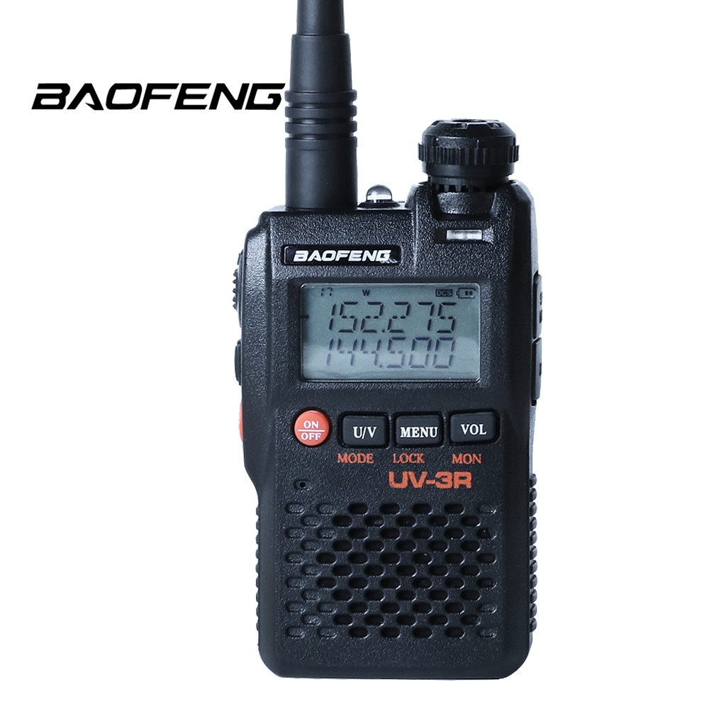 Baofeng UV-3R Mini Protable Tansceiver Dual Band 5W 136-174/400-520mhz Two Way Radio