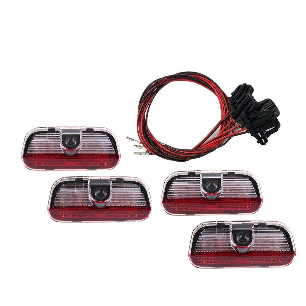 4 Pcs LED Door 3D Shadow Car Light Logo Auto Lamp With Projection Function For VW TIGUAN CC Golf MK6 For JETTA MK5 PASSAT B6 B7