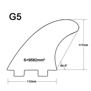 Image 2 - Fcs g5 barbatanas de fibra de vidro verde sup barbatanas de prancha de surf em surf acessórios