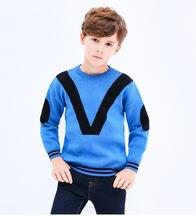 Свитер с v образным вырезом для мальчиков 10 лет