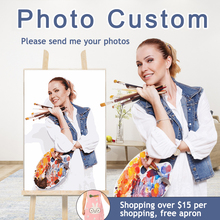 Personality Photo Customized DIY Oil Paint Paintings By Numbers Picture Drawing Canvas Portrait Wedding Family Photos