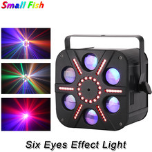 High Quality 5X10W RGBA 6 Eyes Effect Light Professional DJ Disco Stage Light Equipment DMX 512 Control For Club Bar Party KTV(China)