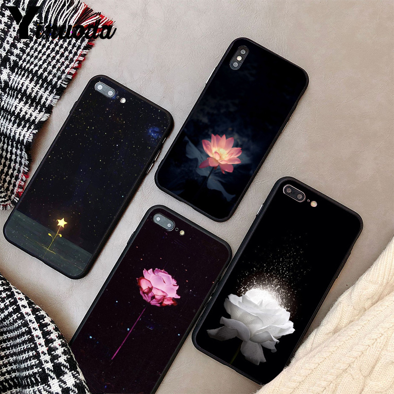 Yinuoda Glowing flowers stars in the dark Fundas Phone Case Cover for iPhone 5 5Sx 6 7 7plus 8 8Plus X XS MAX XR