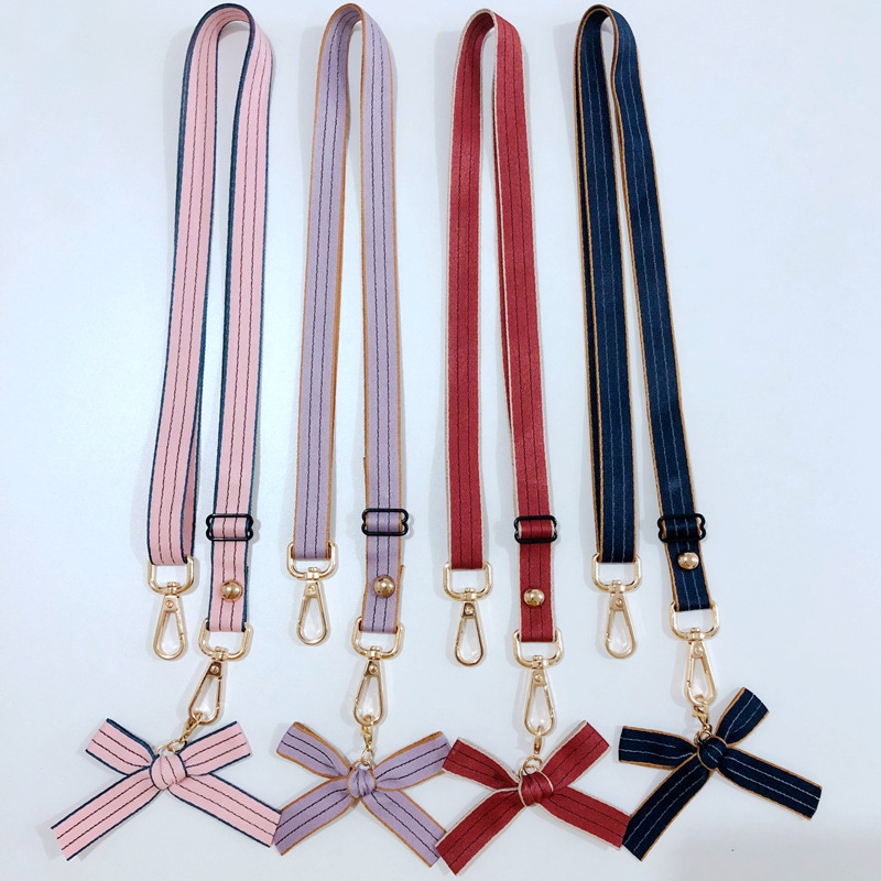 120 Cm Fabric Handle Bag Strap For Women Removable DIY Shoulder Bow Handbag Accessories Cross Body Replacement Accessory