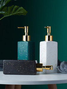 Image 3 - Keramische Zeepdispenser Handdesinfecterend Fles Nordic Badkamer Wc Lotion Fles Douchegel Fles Druk Sub fles Shampoo Bot