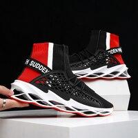 Neue Klinge Laufschuhe für Männer Atmungsaktive Mesh Socken Sneakers Gleitschutz Dämpfung Sohle Athletisch Sport Schuhe Training Zapatills-in Laufschuhe aus Sport und Unterhaltung bei