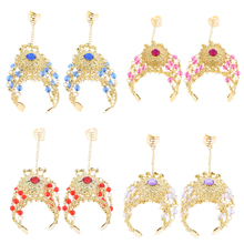 2x Crystal Belly Dance Slave Bracelets Chain Bangle Finger Ring Hand Harness