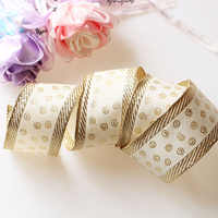 5.3cm5yards DIY AccessoriesRibbon with wire edge, hard mesh, ribbon, gold ribbon, decorative tree gift box, bowknot wrapping