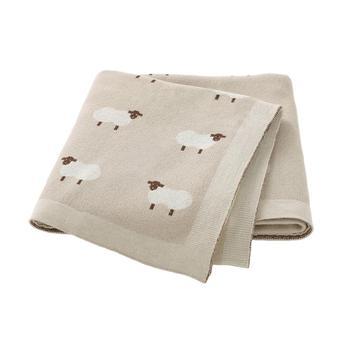 Baby Blankets Newborn Swaddle Wrap 100*80 CM Cotton Knitted Infant Kids Stroller Bedding Quilt Super Soft Children's Accessories