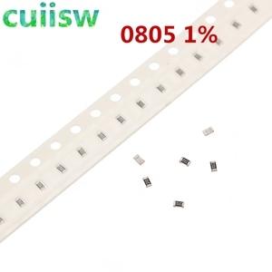 100pcs 1% 0805 SMD resistor 0R ~ 10M 1/8W 0 0.1 1 10 100 150 220 330 ohm 1K 2.2K 10K 100K 0R 1R 10R 100R 150R 220R 330R 1M 10M