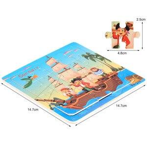 Image 5 - 뜨거운 판매 20 조각 나무 퍼즐 장난감 어린이 아기 교육 학습 장난감 만화 동물/차량 퍼즐 FH G020