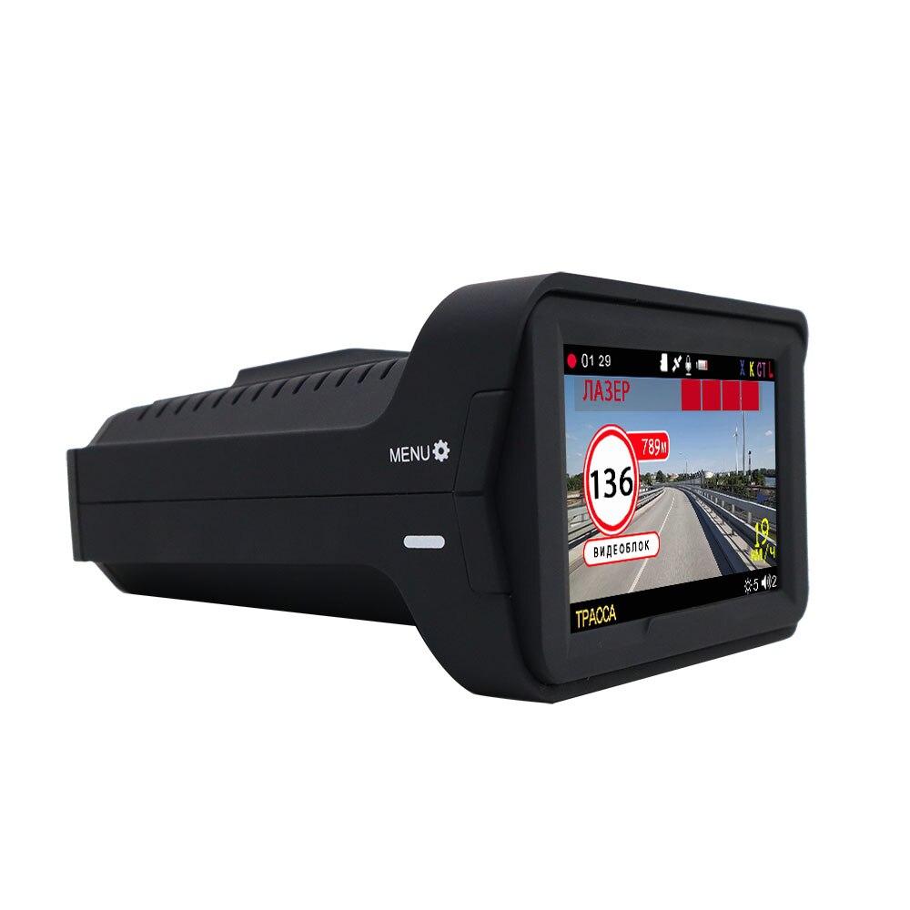 Detector de radar 3 em 1 câmera do carro dvr gps registrador traço cam detector de radar 3 polegada ips display para a rússia laser 1080p detector - 6