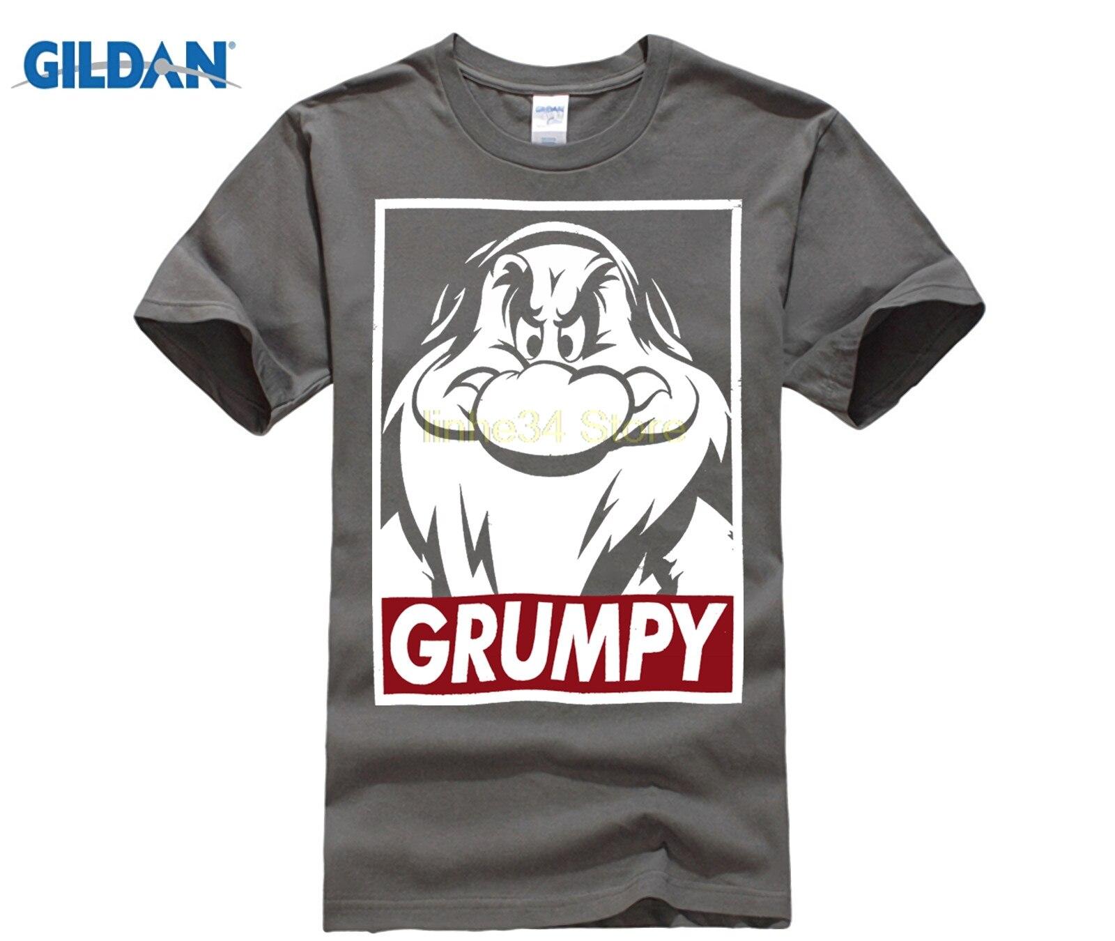 PHIKING Men's Snow White And Seven Dwarfs Grumpy Graphic T-Shirt