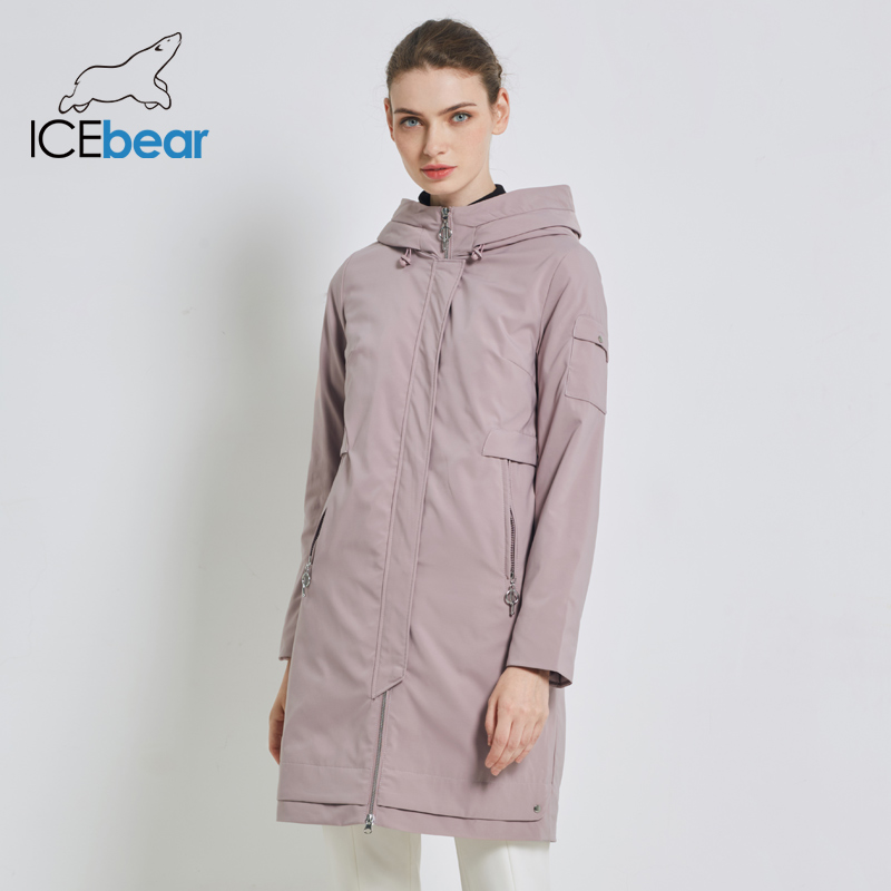 ICEbear 2019 New Women's Warm Jacket Autumn Female Casual Parkas Woman Coat With Zipper Women's Brand Apparel GWC19113I