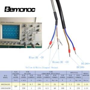 Image 5 - Bemonoc dc 24 v 60/100 w 높은 토크 웜 기어 모터 지능형 인코더 전기 도어 모터 호텔 자동 도어 220/250 rpm
