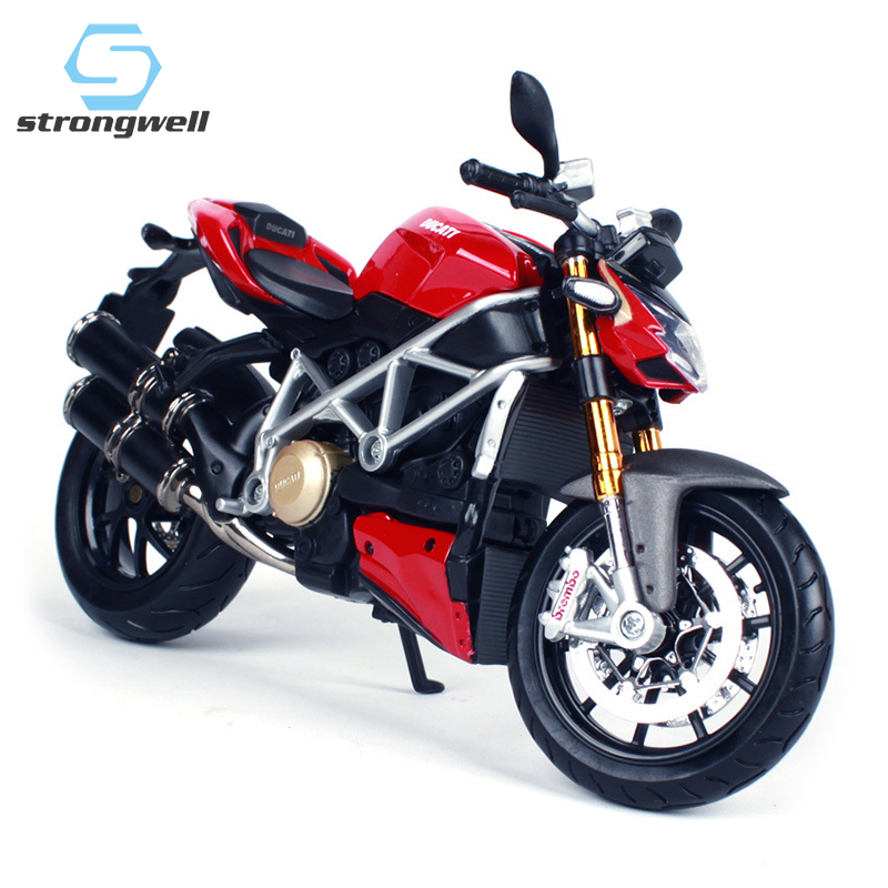 Strongwell European Simulation Alloy Motorcycle Streetfighter Motorbike Home Decoration Morden Kid Toys Boyfriend Birthday Gift