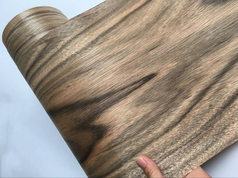 2X Natural Genuine Ebony Wood Veneer Vintage Furniture 0.2mm Thick C/C