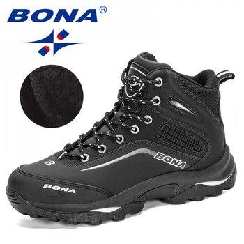 BONA 2020 New Arrival Outdoor Hiking Boots Men Winter Shoes Walking Climbing Man Mountain Sport Masculino Trendy - discount item  34% OFF Sneakers