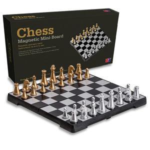 Juego de ajedrez magnético de viaje para niños, tablero de ajedrez plegable, juguete educativo, regalo de cumpleaños, vacaciones, Picnic, fiesta, rompecabezas