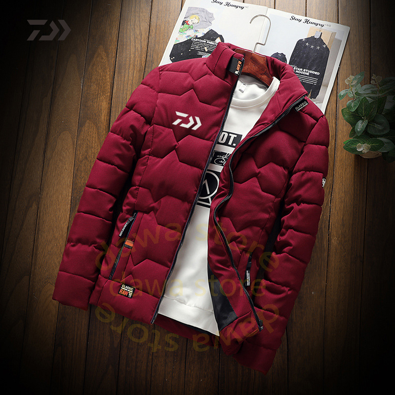 Daiwa Clothing Fishing Jackets Men's Winter Fishing Suit Thicken Warm Fishing Clothing Winter Fishing Shirts Men Fishing Clothes