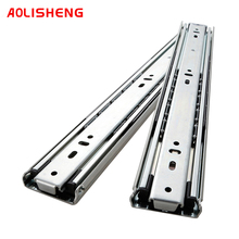 AOLISHENG 51mm Width 68kg Guide Rail Fully Extended Ball Bearing Industrial Heavy Drawer Slide