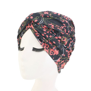 Image 5 - Мусульманские женщины хлопок Цветочный Цветок вязанный тюрбан шапка шарф Рак химиотерапия шапочка при химиотерапии головной убор аксессуары для волос