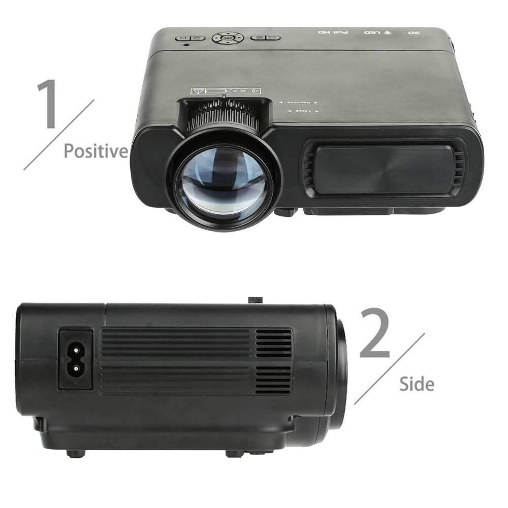 VIVICINE новейший светодиодный мини проектор V20, дополнительный Android 7,1 Bluetooth, поддержка 4K Wi Fi HDMI USB lcd Проектор для домашнего кинотеатра - 2