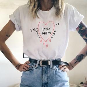 Hip Hop Harry Styles T-shirt Fine Line Love on Tour Women Summer Harajuku Top Tees Female Ullzang T-shirt 90s Graphic Tshirt