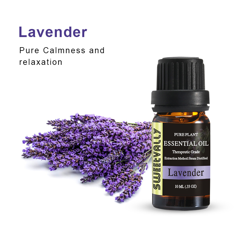 Hot Sale 10ml Lavender Essential Oil For Aromatherapy Diffusers Relieve Stress Flower Fruit Organic Body Essential Oils