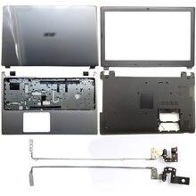 Novo para acer aspire V5-571 V5-531 V5-571G V5-531G portátil lcd capa traseira/moldura dianteira/dobradiças/encosto de mãos/caso inferior prata