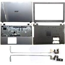 NEW For Acer Aspire V5-571 V5-531 V5-571G V5-531G Laptop LCD Back Cover/Front Bezel/Hinges/Palmrest/Bottom Case Silver