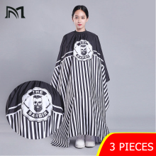 3pcs Hairdresser Capes Salon Barber Cutting Hair Waterproof Cloth Salon Barber Gown Cape Hairdresser Hair Dresser Wraps D3 цена и фото