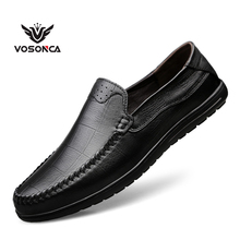Vosonca Men Shoes Classic Comfortable Casual Loafers  High Quality Genuine Leather Flats Moccasins