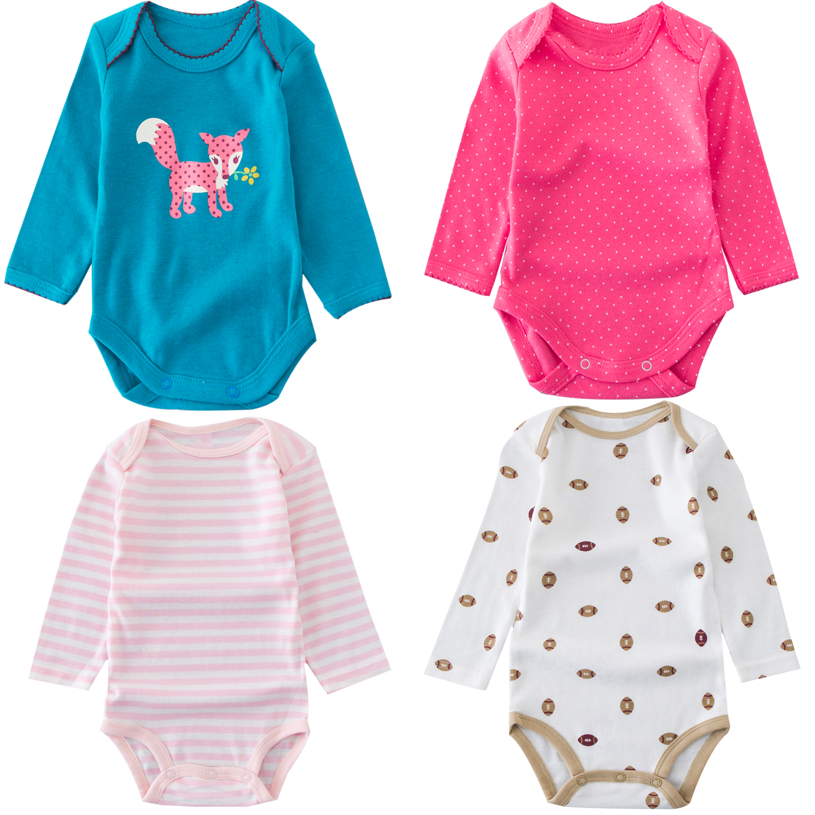 Unisex 3-24 Month 100% Cottons Onesie Baby Boy Clothes Bodysuit Long Sleeve Newborn Baby One-Pieces O-neck Baby Girls Clothes