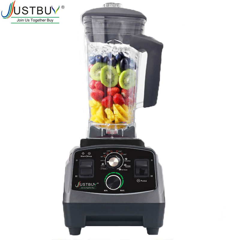 Temporizador bpa livre grau comercial misturador liquidificador automático resistente espremedor de frutas processador alimentos triturador de gelo smoothies 2200 w